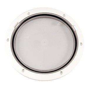 Beckson Marine Beckson 8'' Clear Center Pry-Out Deck Plate - White