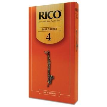 Rico Bass Clarinet Reeds, Strength 4.0, 25-pack