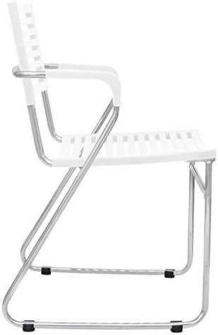 Chaises de salle à manger empilables en plastique blanc 2 pièces