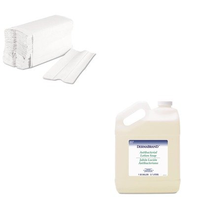 - KITBWK430CTBWK6220 - Value Kit - Dermabrand Antibacterial Liquid Soap (BWK430CT) and Boardwalk 6220 Centerpull Paper Towels (BWK6220)