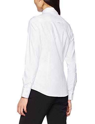 Gant Stretch Oxford Shirt, Camisa para Mujer Blanco (White)