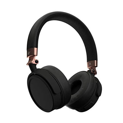 Kitsound Accent 60 Wireless Bluetooth Headphones, On Ear Headphones with Call Handling and Carry Pouch, Rose Gold