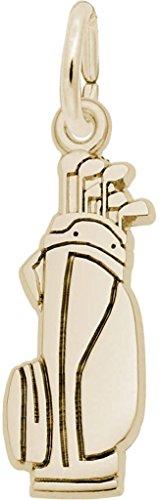 Rembrandt Flat Golf Bag Charm - Metal - 10K Yellow Gold