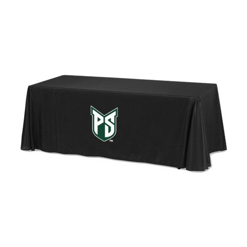Portland State Black 6 foot Table Throw 'Official Logo' by CollegeFanGear