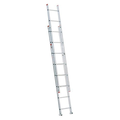 Werner D716-2 200-Pound Duty Rating Type III Aluminum D-Rung Extension Ladder, 16-Foot by Werner