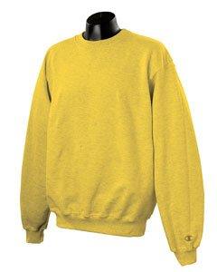 Champion Men's Max Crewneck Full Athletic Fit Sweatshirt, varsity yellow, XXX-Large ()
