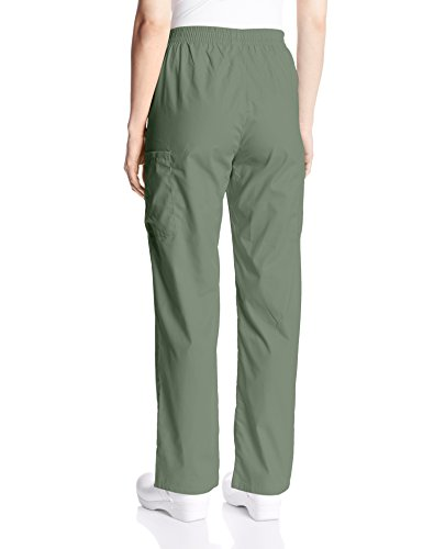Dickies Women's 86106 EDS Signature Scrubs Missy Fit Pull-on Cargo Pant, Olive, X-Small Petite by Dickies (Image #2)