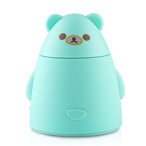 Oil Diffuser Ultrasonic Aromatherapy Essential Aroma Oil Diffuser Panda Cool Mist Humidifier? - Cyan for Bedroom Living Room Study Yoga Spa ()
