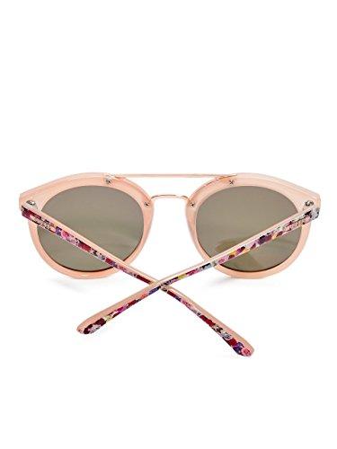... Guess Double pont autour des lunettes de soleil en noir brillant GU7387  01B 52 Pink Gold 031264b445b5