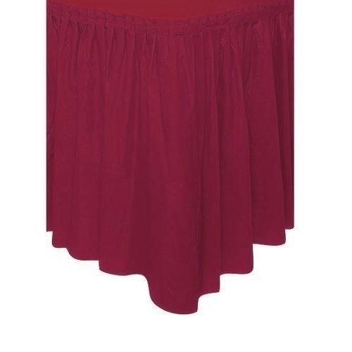 (Pleated Plastic Table Skirt, Self Adhesive, 29