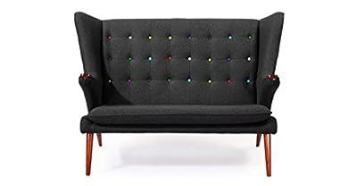 Kardiel Wegner Style Papa Bear Wing Loveseat Sofa
