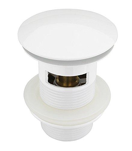 Atco® pu19con rebosadero de Pop Up–Válvula de desagüe para desagüe excéntrico (desagüe clic para lavabo Sifón Sifón Blanco