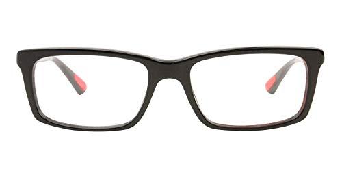101 Black Frame Eyeglasses - Prada PS02CV 1AB1O1 Men's Eyeglasses, Black, 55mm
