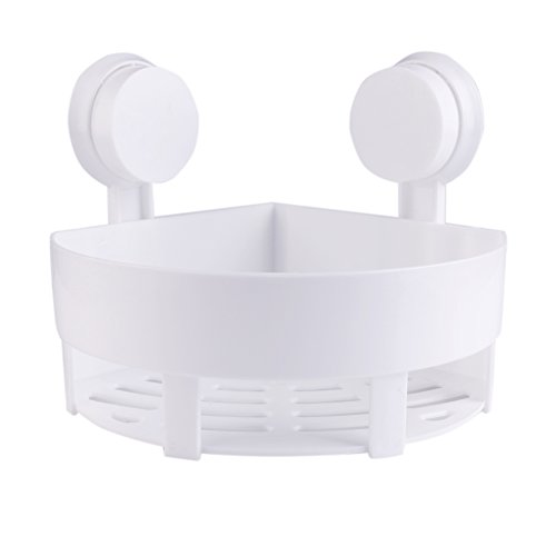 60%OFF Zpet Plastic Bathroom Kitchen Wall Corner Basket Suction Bathroom Shower  Corner Cup Rack