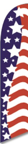 12ft x 2.5ft American Glory Feather Banner Flag - FLAG ONLY - LIMITED TIME OFFER