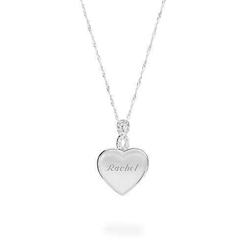 Personalized Initial Locket - Things Remembered Personalized Crystal Infinity Heart Locket with Engraving Included