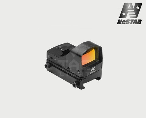 NcStar Compact Tactical Red Dot Reflex Sight/Weaver Base/Black (DDAB) by NcSTAR