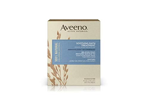 Aveeno Fragrance Free Soothing Bath Treatment, 8-Count Boxes (Pack of 3)