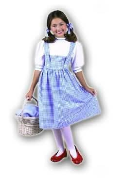 CHILD Medium 8-10 - Dorothy Costume (Does not include basket, shoes or tights) -