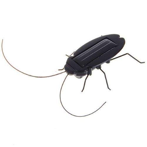 lucky Magic Mini Creative Plastic Solar Energy Powered Cockroach Toy-Black