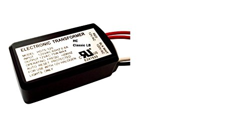 HC Lighting - Halogen / Xenon Electronic Transformer 60 Watt Max output 120 Volt Input / 12 Volt Out Put Potted Transformer
