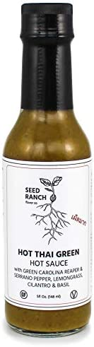 Seed Ranch - HOT Thai Green Carolina Reaper - FEATURED ON HOT ONES! Organic Gourmet Hot Sauce - Paleo, Low Car
