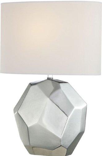 Lite Source LS-21983C Piera Table Lamp, Chrome Ceramic Body with White Fabric Shade (White Ceramic Body)