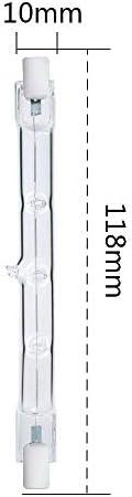 dimmbare R7s J118-Sicherheitslampe 5 St/ück 300 W 118 mm 4650 lm R7s lineares Halogen-Flutlicht 2800 K Warmwei/ß energiesparende Wolframhalogen R7s-Lampe