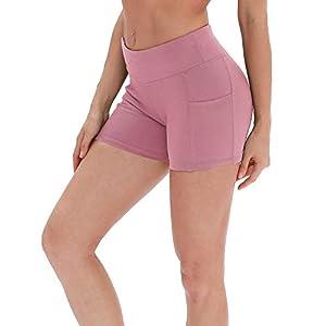 icyzone Workout Running Shorts for Women - Yoga Exercise Athletic Shorts Capris 26