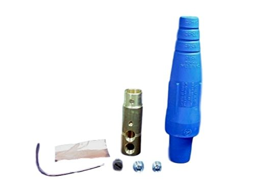 Insulator Cam Type (Leviton 16D31-B 16-Series Taper Nose, Female Plug, Contact and Insulator, Cam-Type, Double Set Screw Termination, Blue (Old Model))