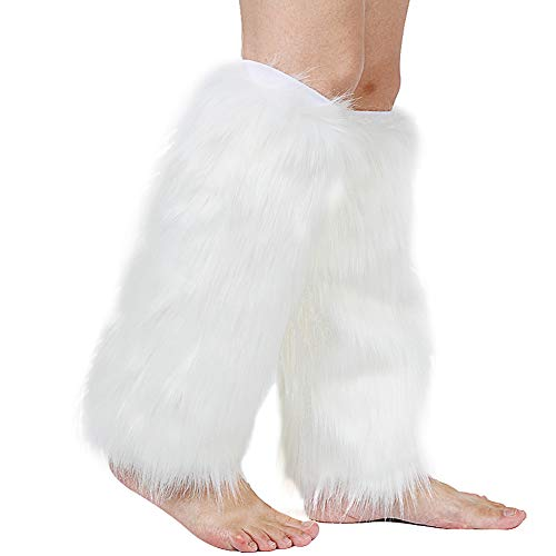 (Barelove Womens Costume Sexy Faux Fur Warm Fuzzy Leg Warmers/Boot Sleeves/Boot Covers)