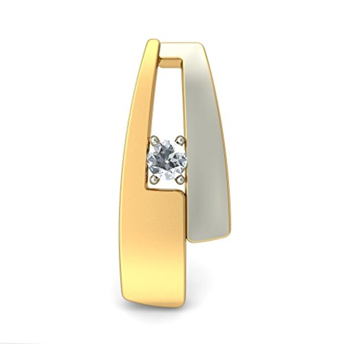 Or jaune 18 K 0,05 CT TW White-diamond (IJ | SI) Boucles d'oreille à tige