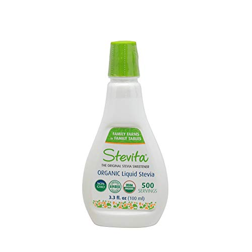 Stevita Organic Liquid Stevia Large – 3.3 Ounces – All Natural Sweetener, Zero Calories – USDA Organic, Non GMO, Vegan, Kosher, Paleo, Gluten-Free – 250 Servings