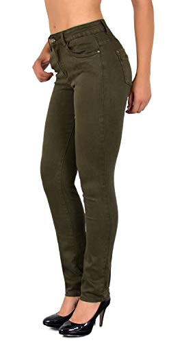 olive Trousers Plus Sizes J510 in Womens Big Straight High Fit ESRA J510 Waist Pants Size xHUAwnCq