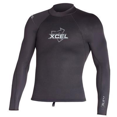 Xcel Men's SLX 2/1mm Long Sleeve Top, Black, X-Small