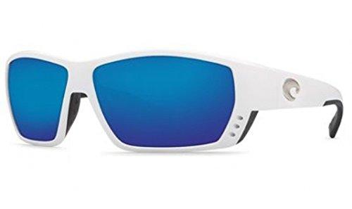 Costa Del Mar Tuna Alley Sunglasses, White, Blue Mirror 580