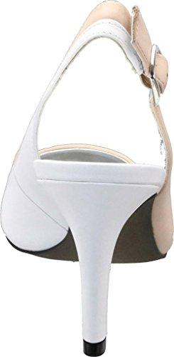 Women's White Toe David Slingback Soto Pointed Tate Camel Calfskin Patent 5nnI041