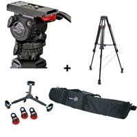 Sachtler 0450 FSB 6 T SL MCF Tripod System with Fluid Head & Mid Level Spreader, Supports 13.2 lbs by Sachtler