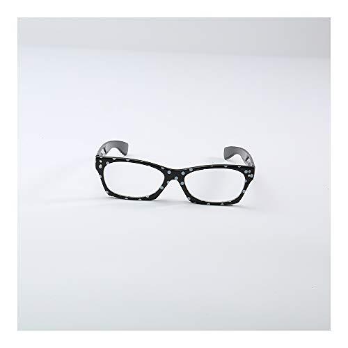 - Reading Glasses Frame Readers Elderly Eyewear Fashion Eyeglasses Personalized Presbyopic Glasses Stylish Pattern Quality Spring-Hinges Anti Visual Acuity Decline,Black,1.5