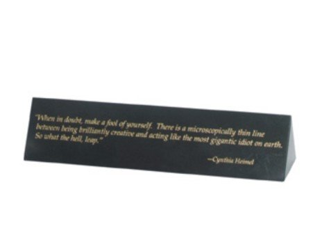 ANEDesigns Engraved Triangular Jet Black Marble Name Plate