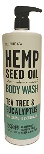 Hemp Seed Oil Tea Tree & Eucalyptus Body Wash, 32 Fluid Ounce (Hemp Seed Oil And Tea Tree Oil)