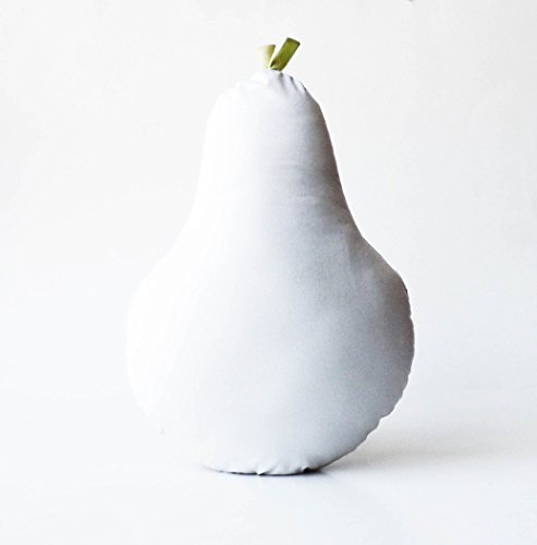 Lulu e Frufru Cotton Pear Shaped Cushion Light Gray