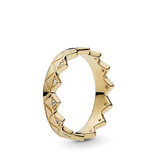 - PANDORA Exotic Crown 18k Gold Plated PANDORA Shine Collection Ring, Size: EUR-50, US-5-168033CZ-50
