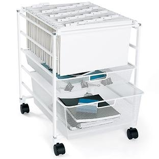 The Container Store Mesh File Cart