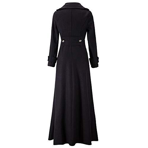 Pour like Manches Manteau nbsp; Jouet 1739 Revers Wool Femme Hiver Turquie Solide À Longues Fin Noir zdqwP44