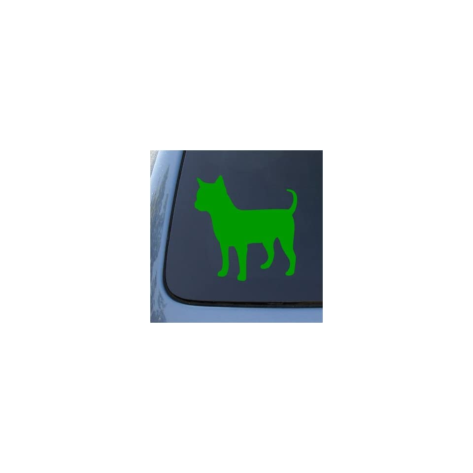 CHIHUAHUA SILHOUETTE   Dog   Vinyl Decal Sticker #1498  Vinyl Color Green