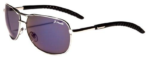 Aviator Sunglasses AV35 Flash Lens Adjustable Arms (Silver & (Ladies Flash)