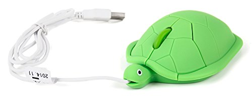 Compaq Mouse Scroll (DURAGADGET Novelty 'Turtle' Shaped Mini Laptop USB Mouse with Handy Scroll Function - Suitable for Compaq CQ56-100, CQ57-460SA & CQ56-200 Laptops)