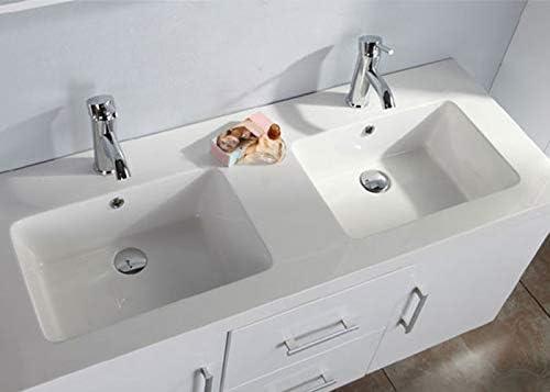 Badmobel Badezimmermobel Modell White Malibu 120 Cm Badezimmer Waschbecken Waschtisch Schrank Spiegel Amazon De Kuche Haushalt