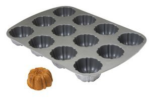 FocusFoodService 952837 Fluted Muffin Pan - 12 Openings - Pack of 6